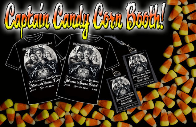 Captain Candy Corn Booth